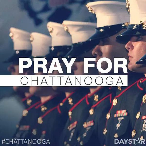 Pray for Chattanooga - Marines - DayStar Graphic