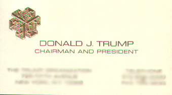 Two Donald Trump Business Cards Page 3 Of 4 Courageous Christian