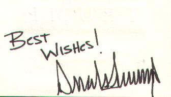 Donald Trump Business Card 2 - Back (Autographed)