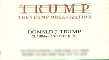 Donald Trump Business Card 1