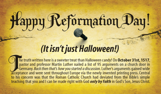 Reformation Day Tract by One Million Tracts (front)