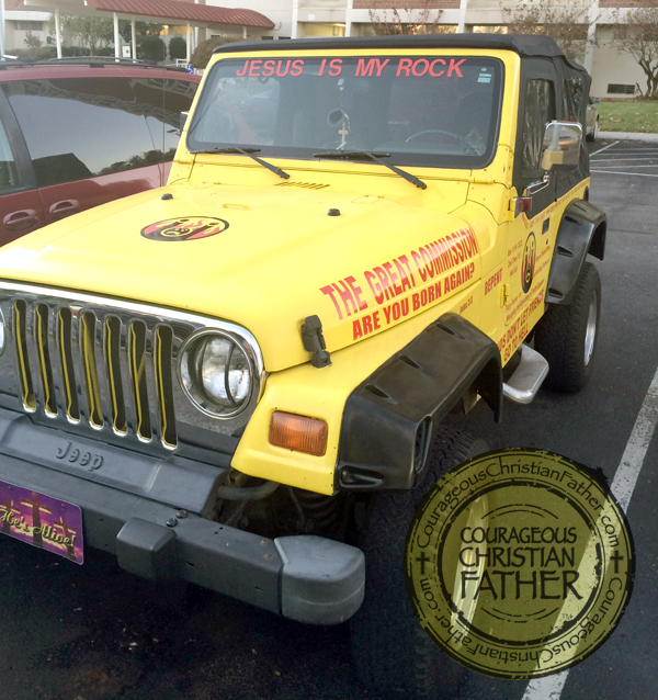 Jesus is my Rock Jeep (Front)