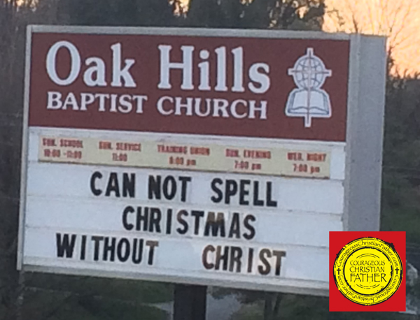 Cannot Spell Christmas Church Sign