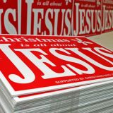 Christmas Is All About Jesus-Signs