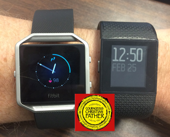 Fitbit Blaze & Fitbit Surge side-by-side - Fitbit Tracking for 5 Years! Fitbitaversary!