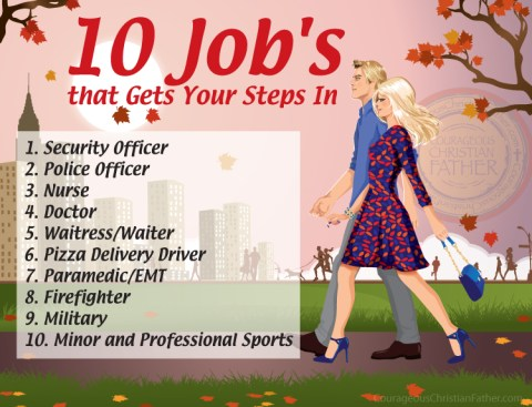 10 Job's that Gets Your Steps In
