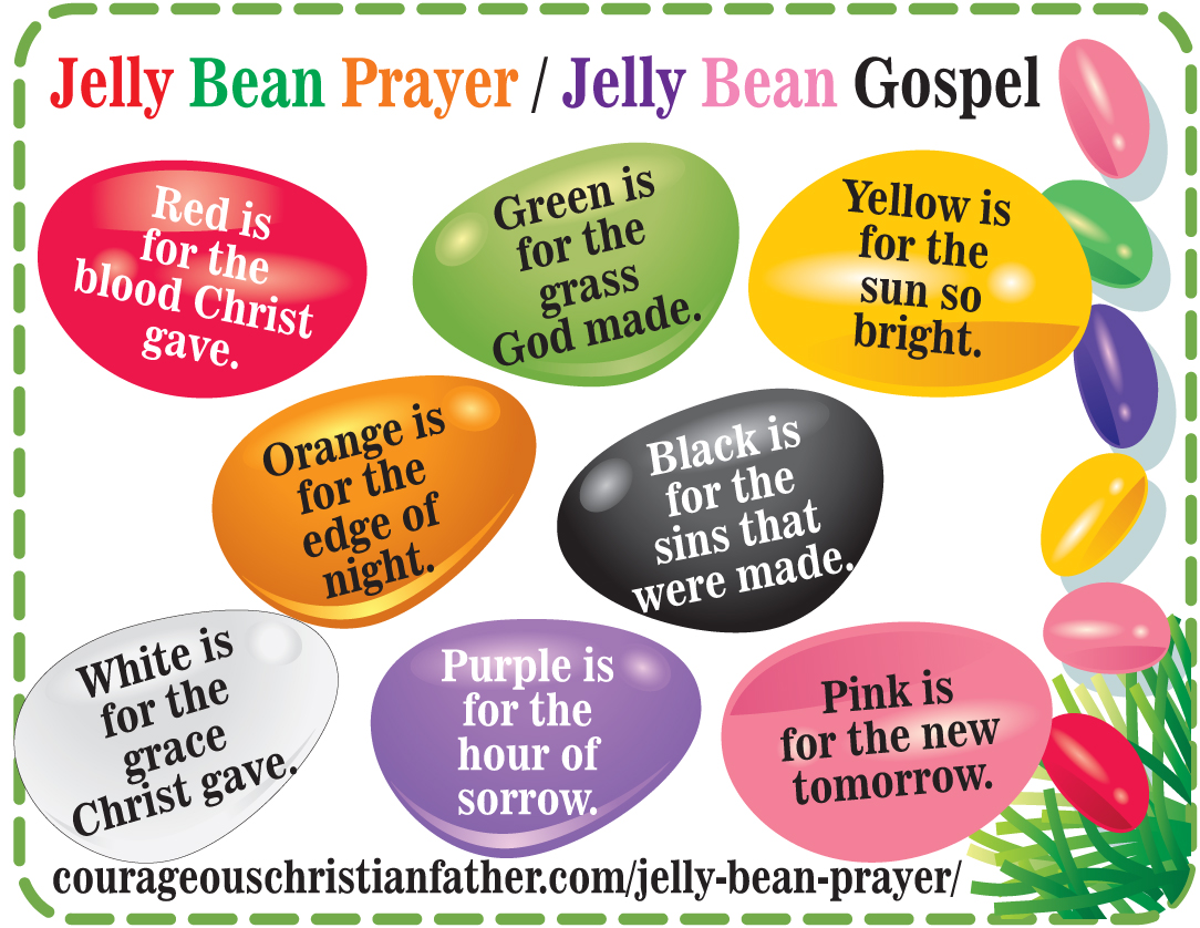 Jelly Bean Prayer Printable - Jelly Bean Gospel - Printable