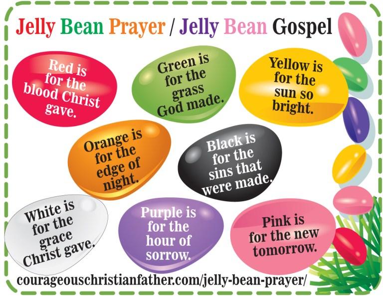 Jelly Bean Prayer Printable - Jelly Bean Gospel Printable
