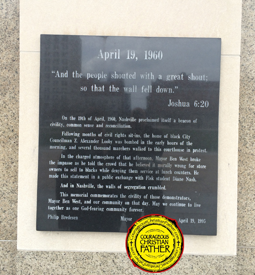 Nashville Plaque with Joshua 6:20 - April 19