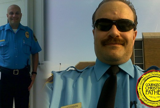 Steve working a Security Officer