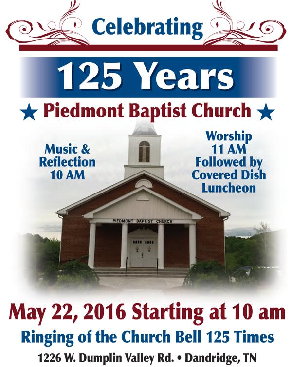 Piedmont Baptist Church 125th Anniversary