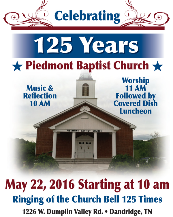 Piedmont Baptist Church 125th Anniversary (Dandridge, TN)