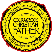 CCF logo red yellow black (Courageous Christian Father)