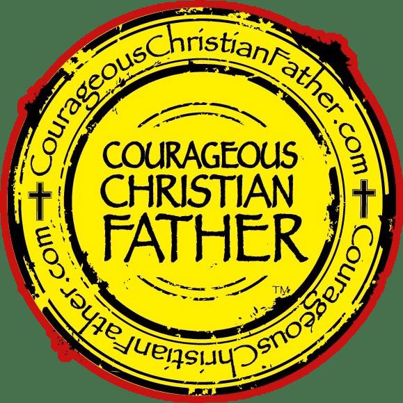 redyellow courageous christian father logo