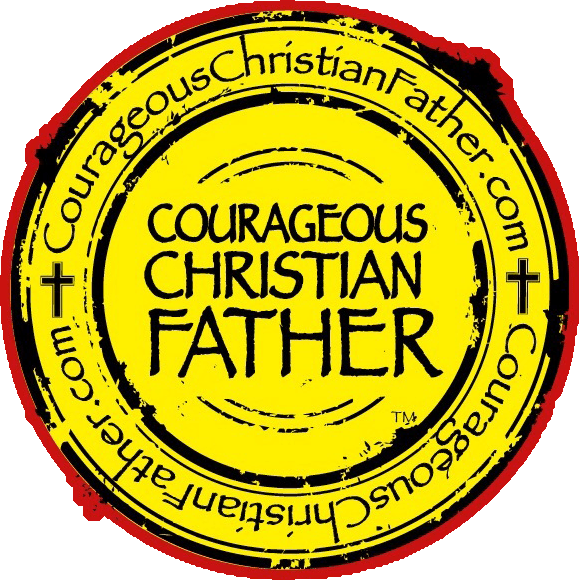 Courageous Christian Father Seal/Logo - Full Color (Red, Black & Yellow)