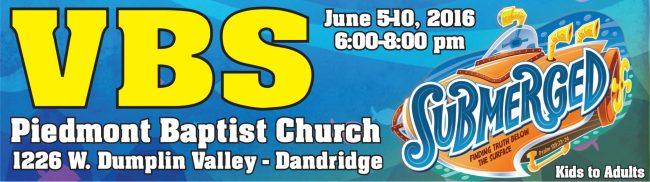 Submerged VBS Piedmont Baptist Church