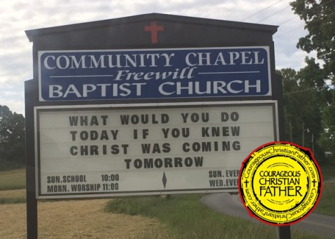 Christ Tomorrow Church Sign