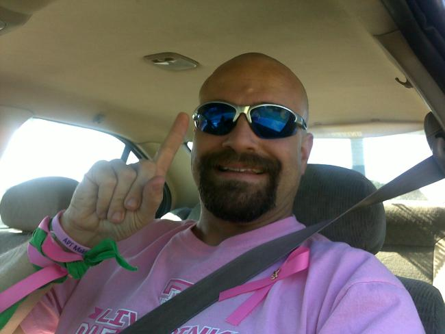 All Things Pink - Steve Best Dressed in Pink