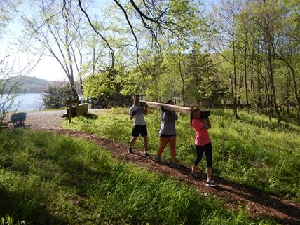 Photo TN Park Services: Tennessee Promise scholars volunteering at Radnor Lake State Park in April 2016.