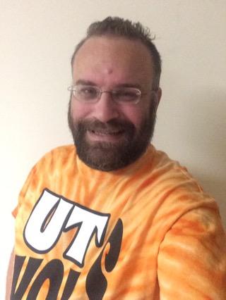 Steve wearing orange July 1, 2016 for the memory of Pat Summitt - all things orange