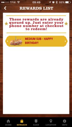 Firehouse Sub App - Free Firehouse Sub Reward