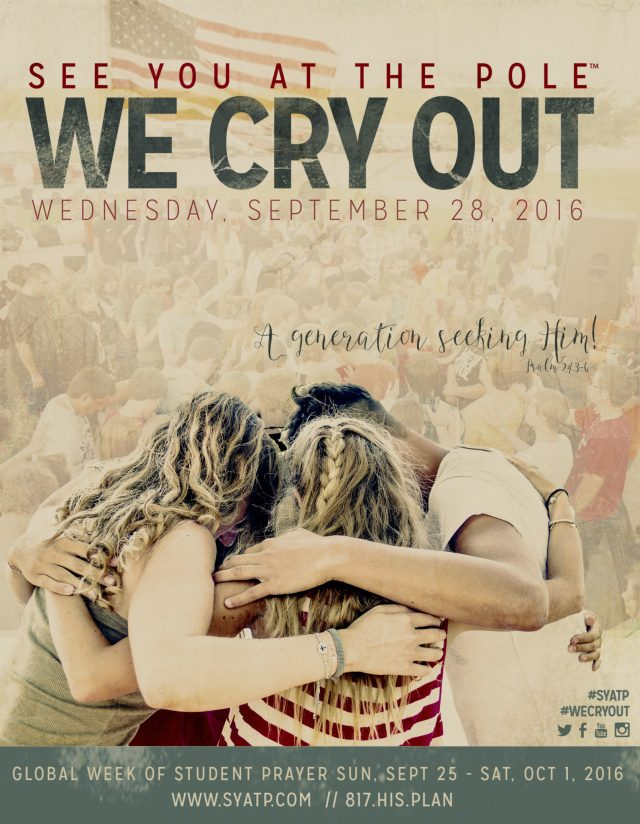 See You At the Pole 2016 We Cry Out Artwork