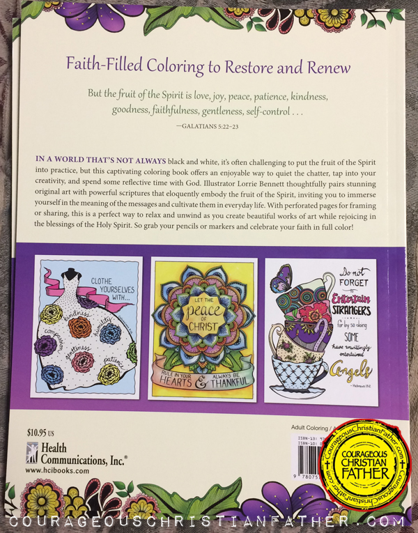 InkSpiration Fruit of the Spirit Adult Coloring Book - Back Cover