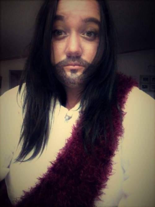 Sasha Paige dressed up like Jesus (Close Up)   Student Dresses up like Jesus   Photo credit Sasha Paige