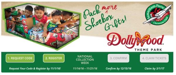Dollywood and Operation Christmas Child Shoebox Challenge (Shoeboxes)