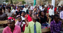 Haitians Still Get Their Praise On At Church Sunday Photo Credit: AP/Dieu Nalio Chery