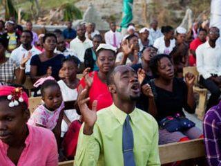 Haitians Still Get Their Praise On At Church Sunday Photo Credit: AP/Dieu Nalio Chery