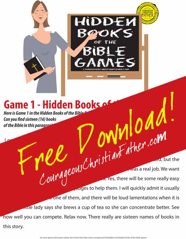 Hidden Books of the Bible - Game 1