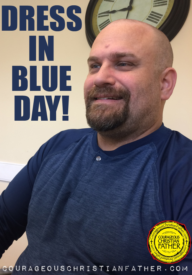Dress In Blue Day - Steve in Blue #DressInBlueDay #BlueDay