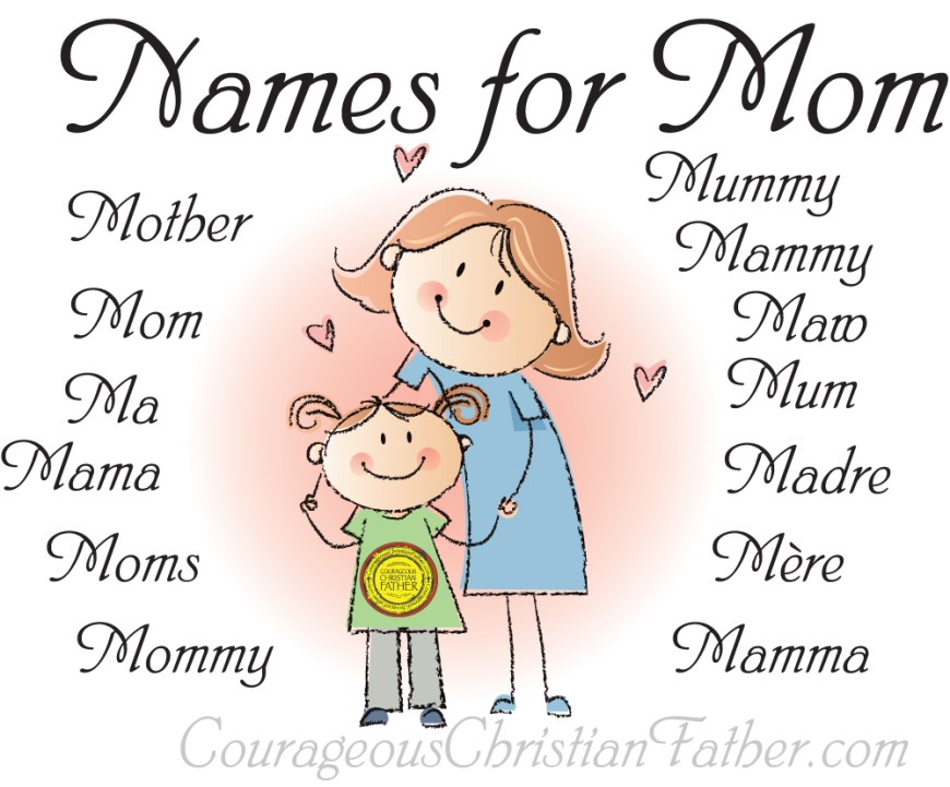 Names for Mom - This is a complied list of the names we call our mother. Includes a free printable version! Happy Mother's Day! #Mom #MothersDay