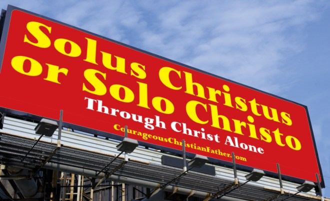 Solus Christus or Solo Christo Through Christ Alone