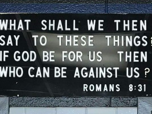 """What shall we then say to these things. If God be for us, then who can be against us? Romans 8:31"" Knoxville Police Department"