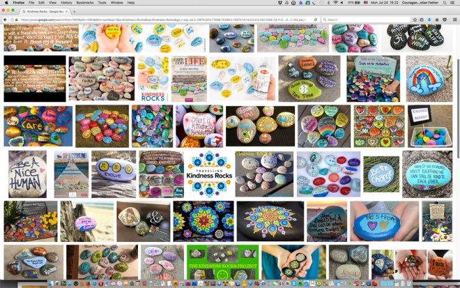 Kindness Rocks (Screen Shot from Google Images) Also called Ark Rocks, Rocks of Kindness. #KindnessRocks
