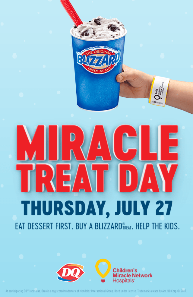 Miracle Treat Day Dairy Queen for Children's Miracle Network #MiracleTreatDay