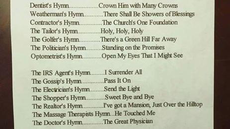Occupational Hymns