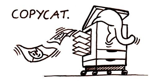 Copycat. You ever hear that term before? I know you kids have played that game. You often will say stop copying me! #CopyCat