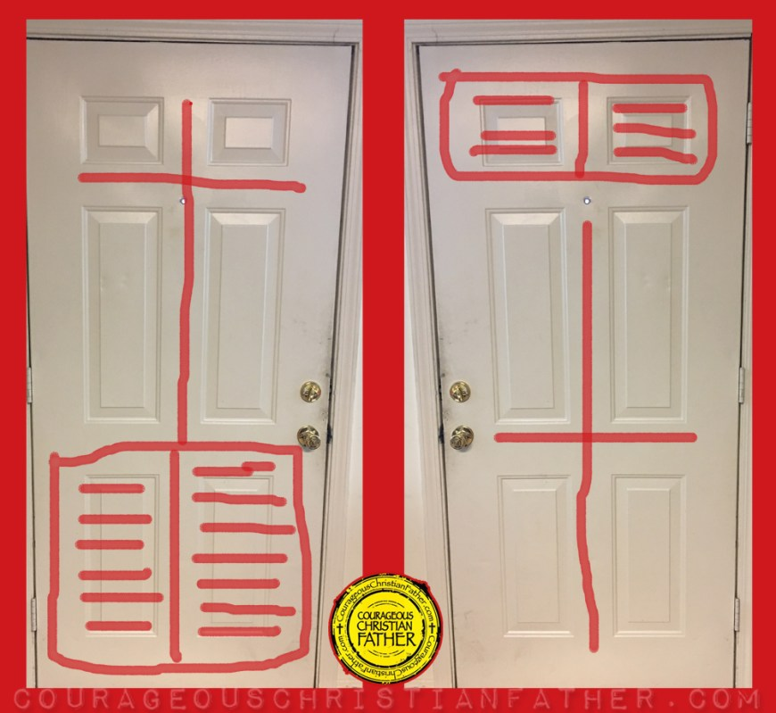 6 Panel Door (Bible and Cross Door) Cross Door - Bible Door also known as the Christian Door