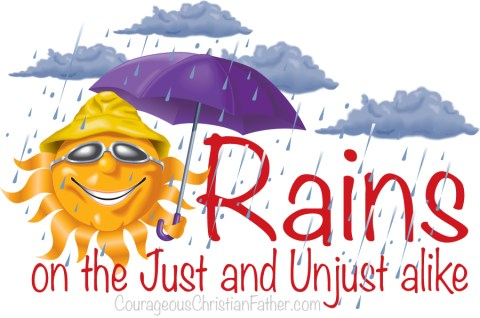 Rains on the Just and UnJust alike