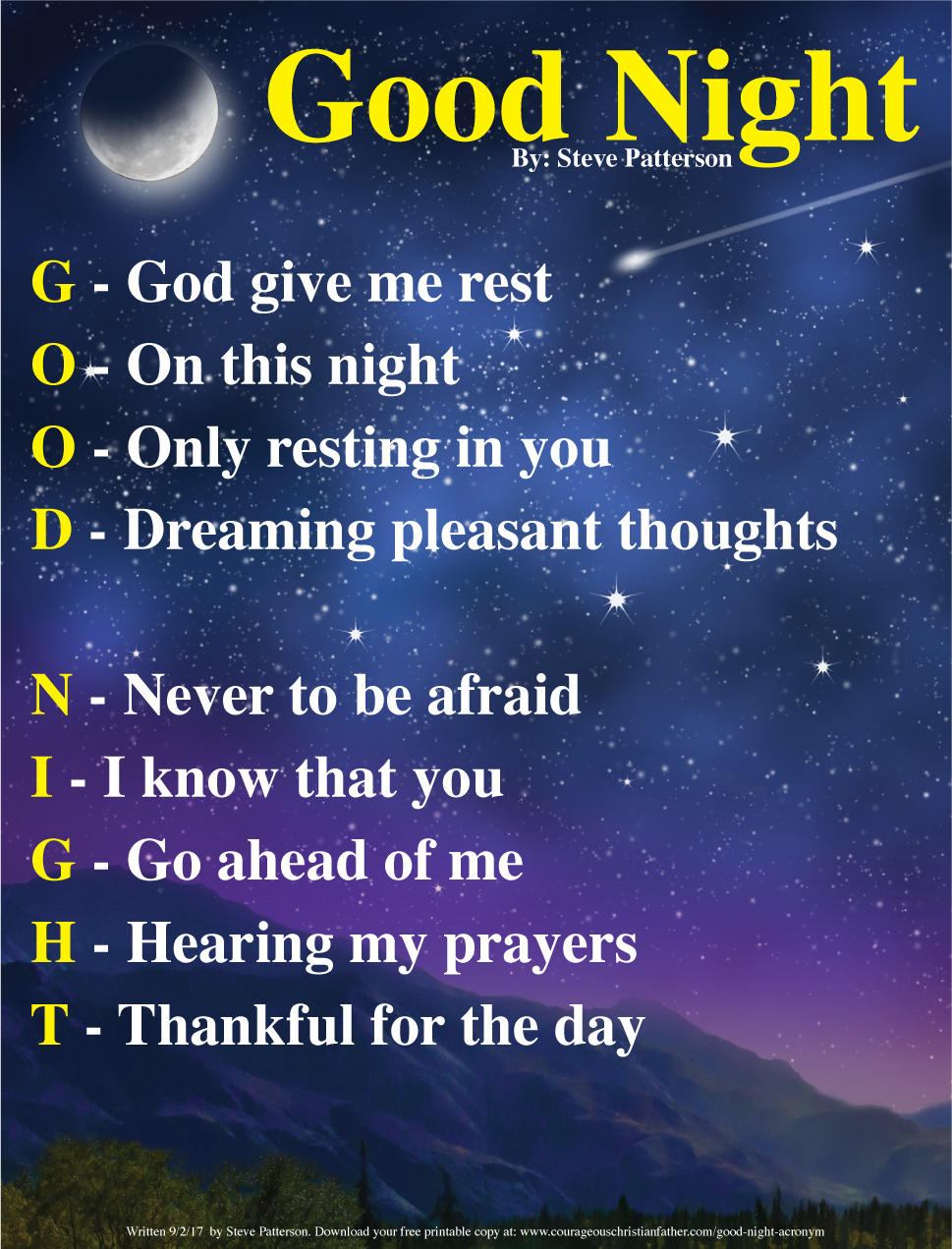 Good Night Quotes For Father: Courageous Christian Father