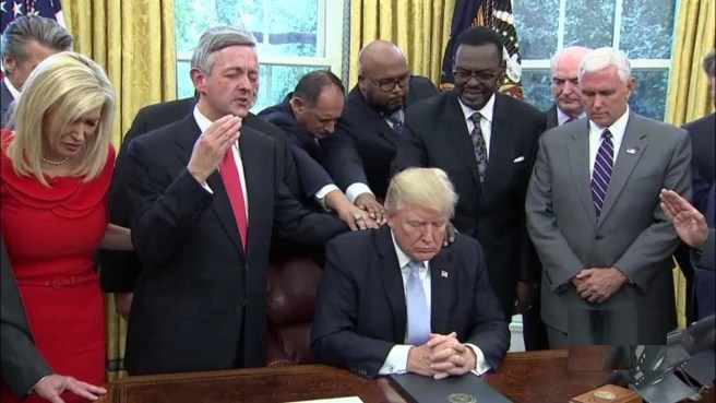 Prayer with Trump for National Day of Prayer for the Victims of Hurricane Harvey and for our National Response and Recovery Efforts