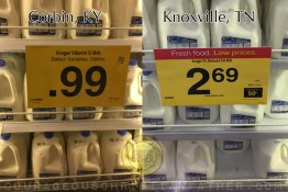 99¢ Milk vs $2.69 Milk at Kroger
