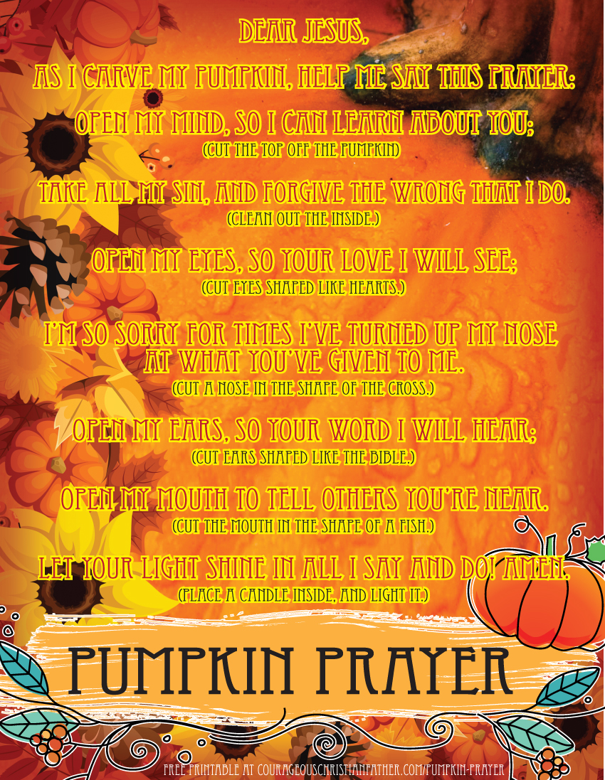 Pumpkin Prayer Printable