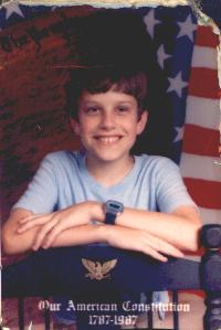 Young Steve 1987 (11 years old)