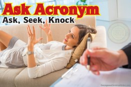 Ask Acronym - Ask, Seek, Knock