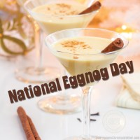 National Eggnog Day #NationalEggnogDay #Eggnog