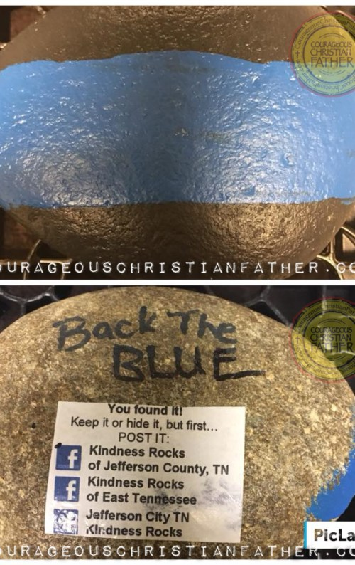 Back the Blue Kindness Rock #BacktheBlue